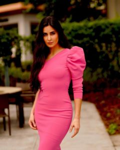 katrina kaif pink dress