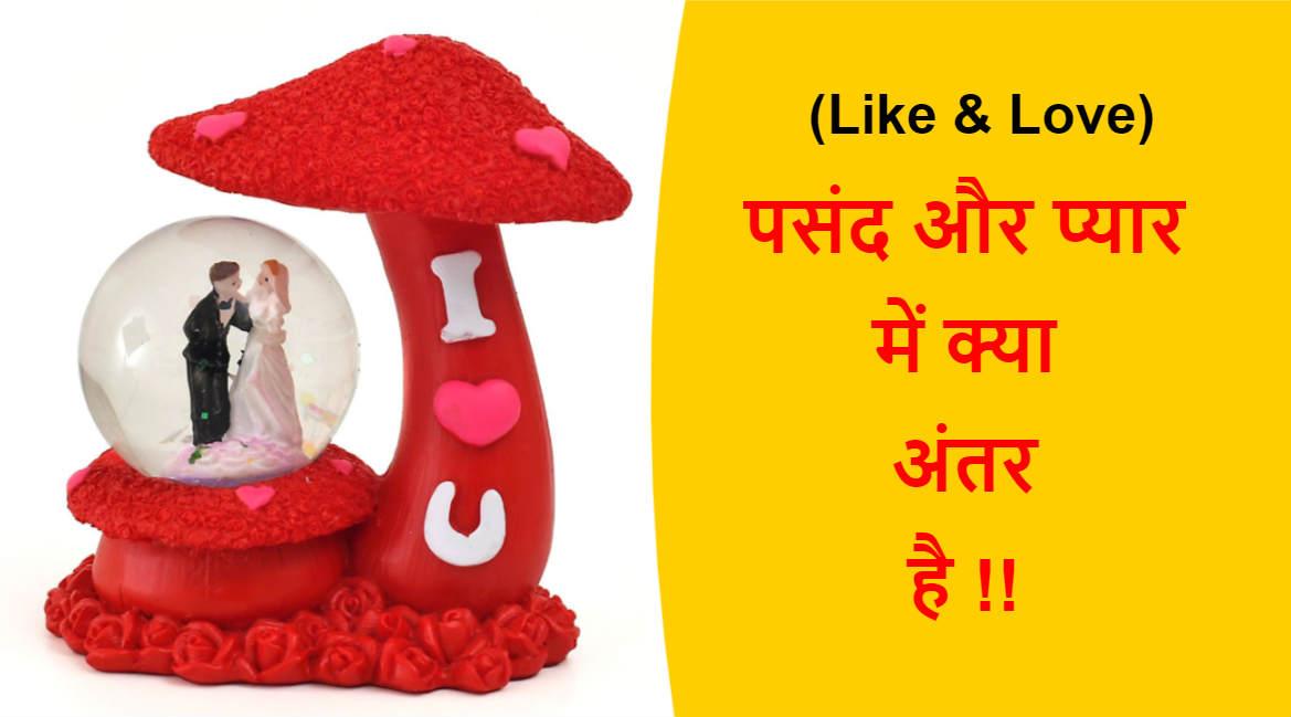 (Like & Love) पसंद और प्यार में क्या अंतर है !!